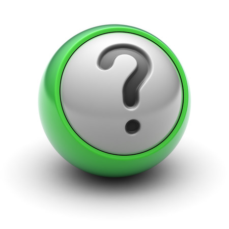 Question Icon on the Ball. Stock Photo