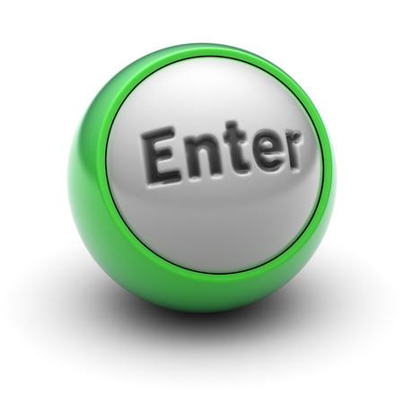 Enter Icon on the Ball.