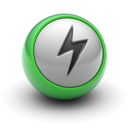 voltage sign: Lightning Icon on the Ball.