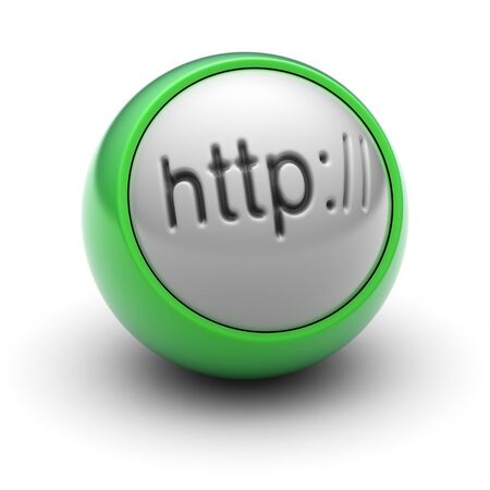 Http Icon on the Ball Stock Photo