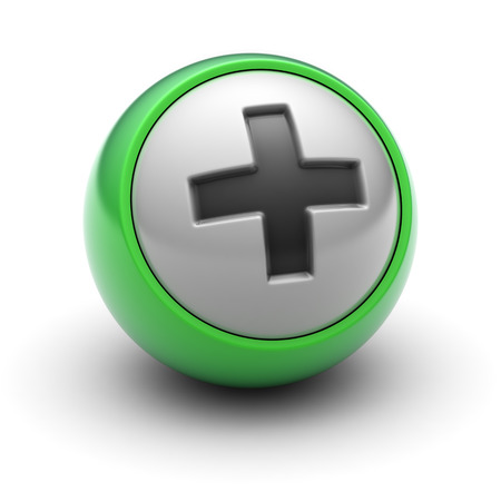 Icono más en la pelota Foto de archivo - 73695333