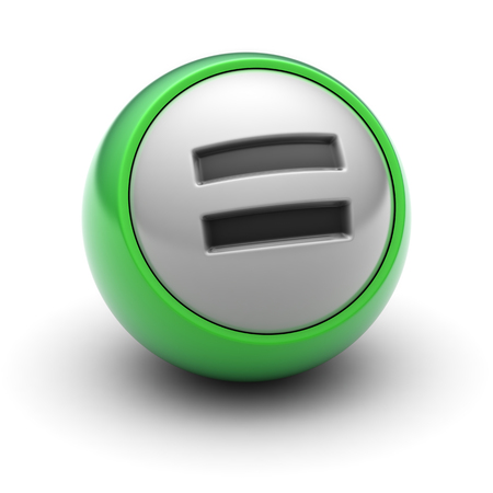 summation: Equal sign on the ball