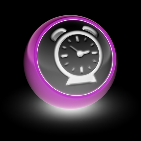 chiming: The Clock Icon on the ball.