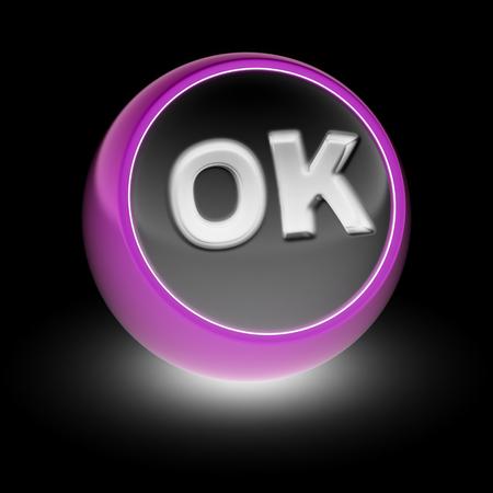 OK Icon on the ball.