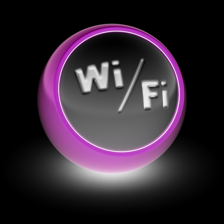 Wi-Fi Icon on the ball.