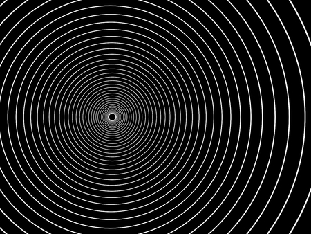 The concentric circles.