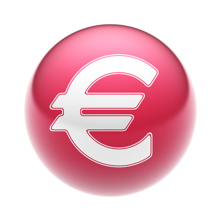 The Euro Icon on The red Ball.