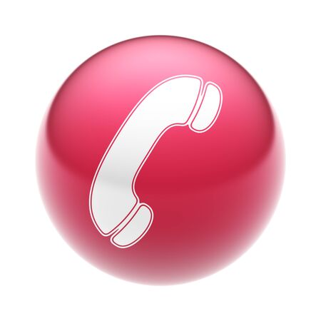 landlines: The Call Icon on The red Ball.