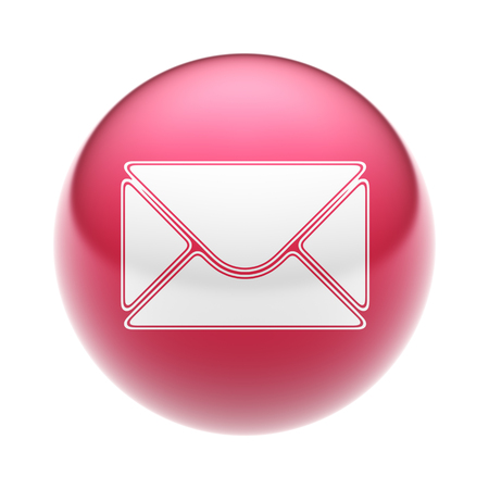 webmail: The E-Mail Icon on The red Ball.
