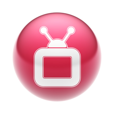 The TV Icon on the red Ball.