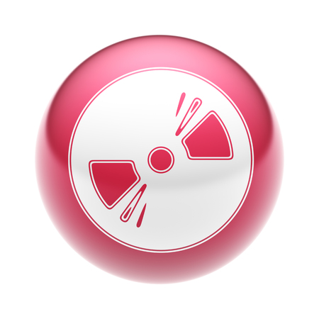 The Disc Icon on the red Ball. Stock Photo