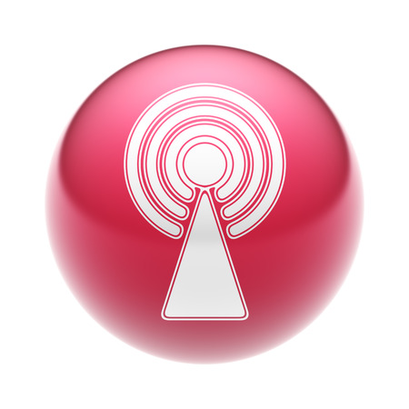 The Antenna Icon on the red Ball.