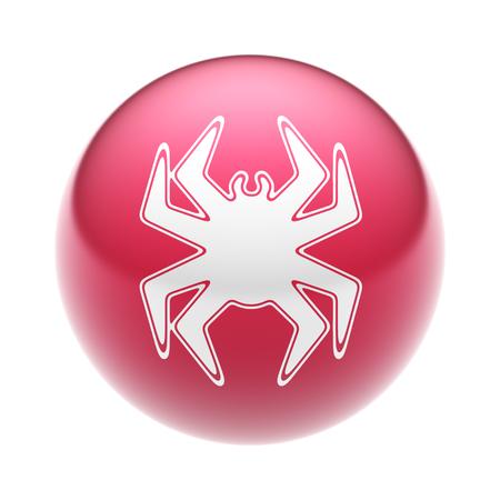 Virus Icon on the ball.