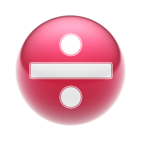 summation: The obelus sign on the red ball.