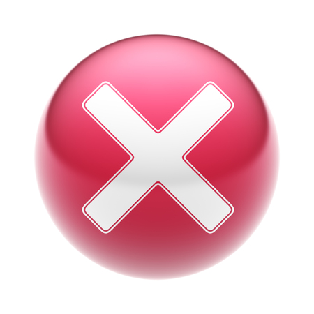 summation: The multiply sign on the red ball. Stock Photo