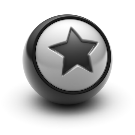 liked: The Star Icon on The black Ball.