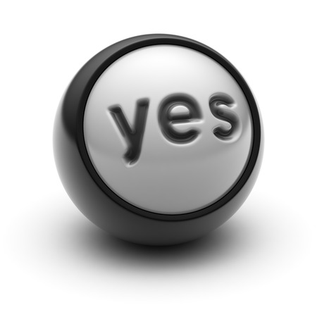 affirm: yes Icon on The black Ball.