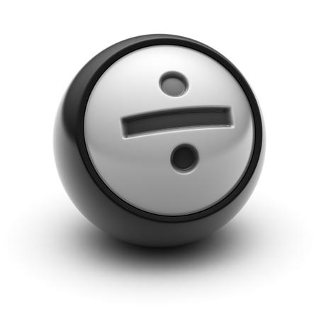 summation: An obelus symbol on The black Ball.