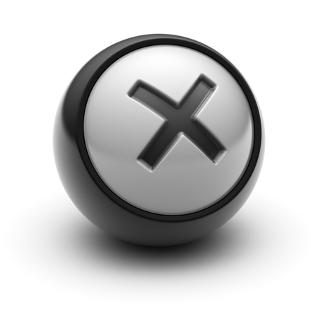 summation: Multiply Sign Icon on The black Ball.