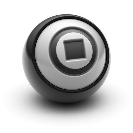 stop icon: Stop Icon on The black Ball.