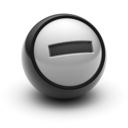 summation: The Minus sign Icon on The black Ball.