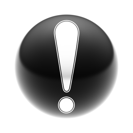 Attention Icon on The black Ball.