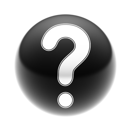 Question Icon on The black Ball.