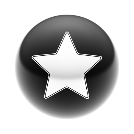Star Icon on The black Ball.
