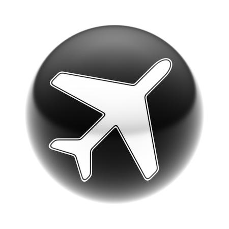 Flight Icon on The black Ball.