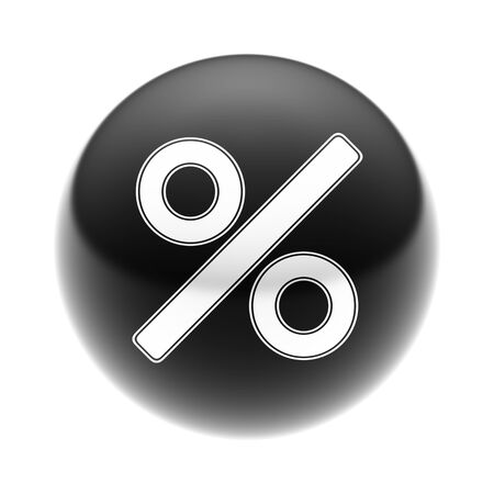 Percent Icon on The black Ball.