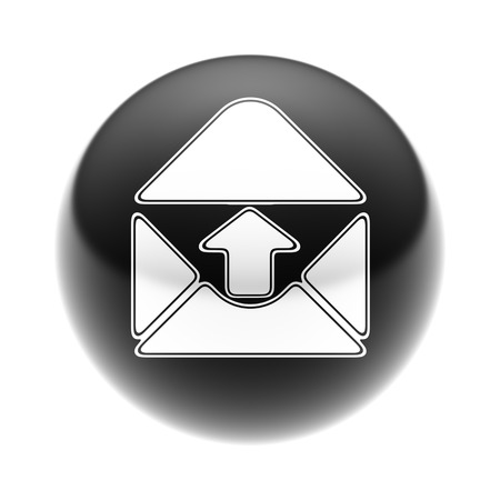 E-Mail Icon on The black Ball.