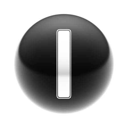 The Letter I on The black Ball.