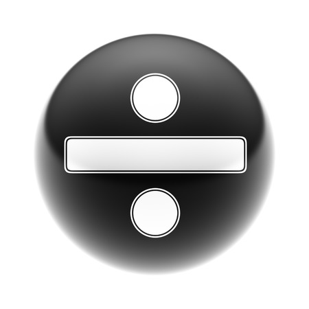 summation: The Obelus Sign on The black Ball.