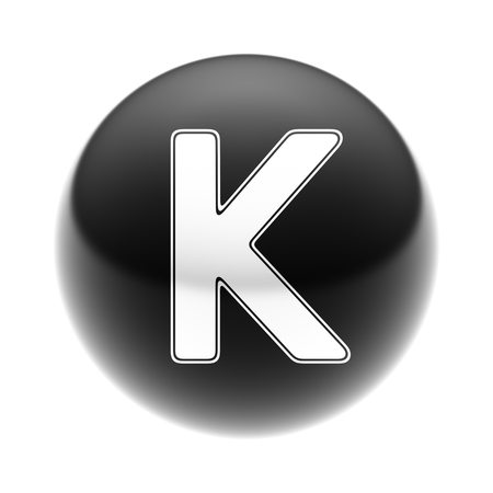 The Letter K on The black Ball.