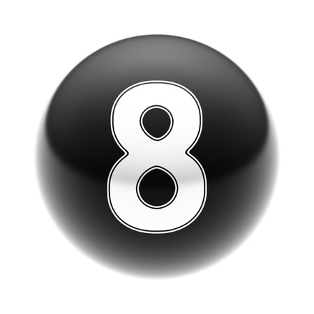 number icon: The Number 8 on The black Icon.