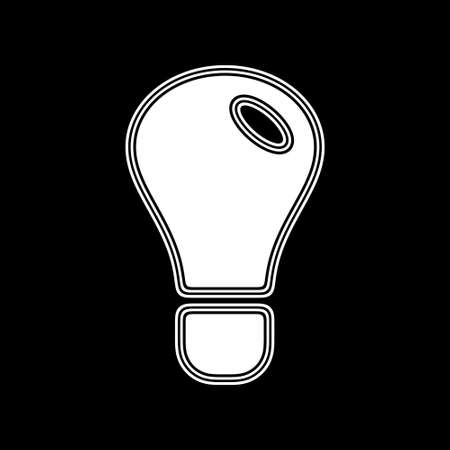 The Idea Icon on A black Background.