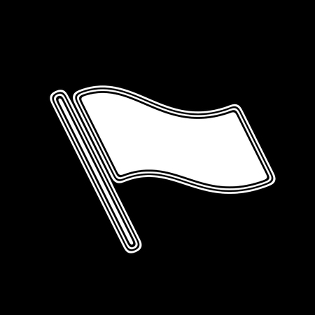 The Flag Icon on A black Background.