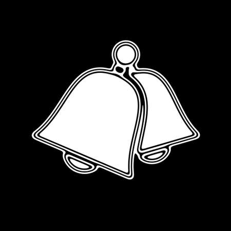 The Bell Icon on A black Background.