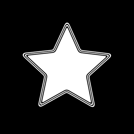 The Star Icon on A black Background.