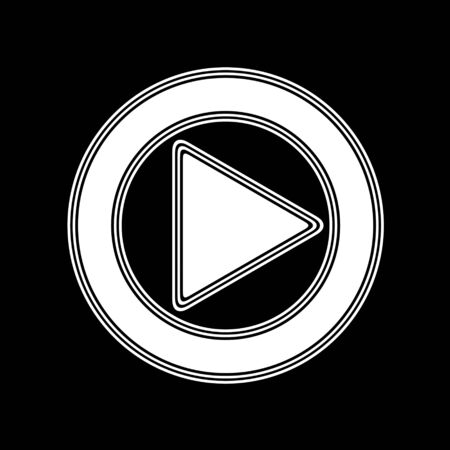 playback: The Play Icon on A black Background.