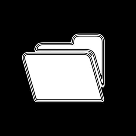 archive site: The File Icon on A black Background.