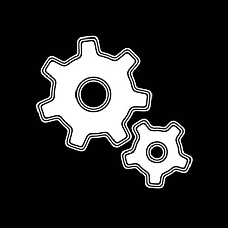 The Gear Icon on A black Background.