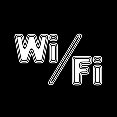 i pad: The WiFi Icon on A black Background.