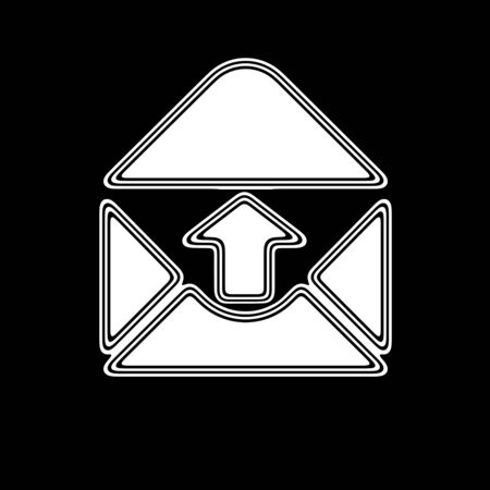 webmail: The E-Mail Icon on A black Background.