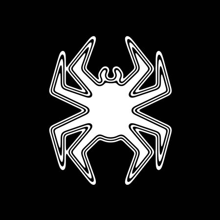 The Virus Icon on A black Background.