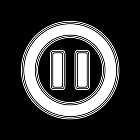 playback: The Pause Icon on A black Background.