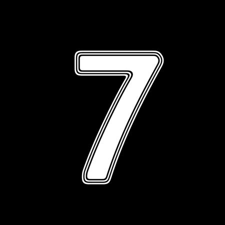 The Number on A black Background.