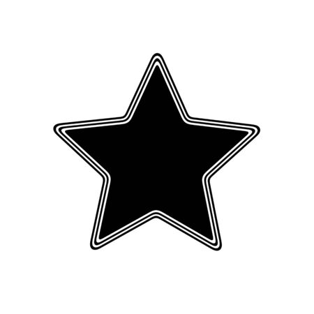 The Star Icon on A white Background.