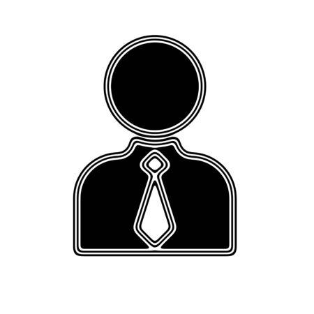 white person: The Person Icon on A white Background.