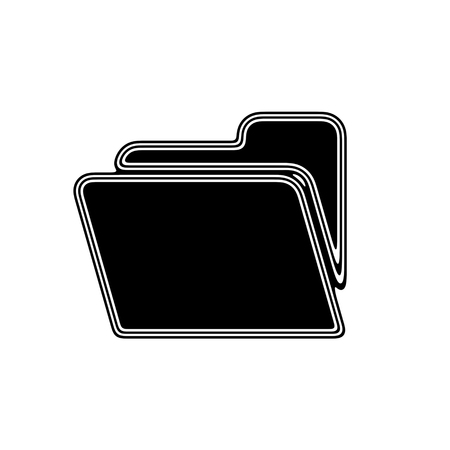archive site: The File Icon on A white Background. Stock Photo